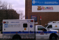 SUNY authorized the purchase of three new ambulances prior to their hasty move to close LICH. Here is one, parked ifo hospital.